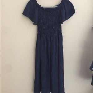 NWOT Zara Striped Off-Shoulder Dress